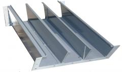 Chutes, ducts for electric wires and cables