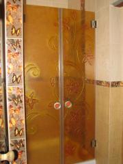 Shower glass cabins, doors.
