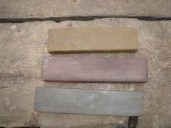 Stones natural for sharpening of knives