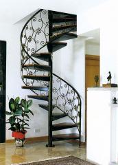 Лестница для дома металлическая