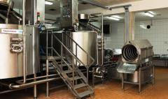 Workshop of production of cottage cheese
