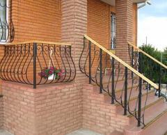 Balcony handrail metal, metal handrail,
