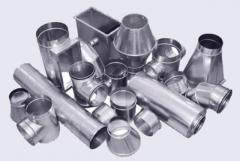 Products from galvanized steel, the Product from