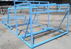Production of metal structures for agricultur