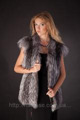 Fur vest a vest a sleeveless jacket from fur of