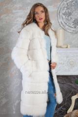 Fur coat a short fur coat a vest from a polar fox