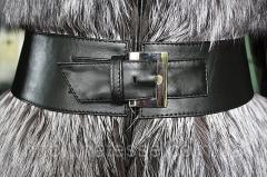Пояс кожаный черный