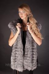 Vests from silver fox fur