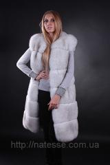 Arctic fox fur vests