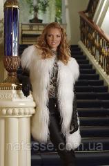 Жилет жилетка из меха ламы (Испания)  Tibet lamb fur vest, length=90 cm