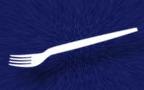 Вилка одноразовая шашлычная белая L=17см