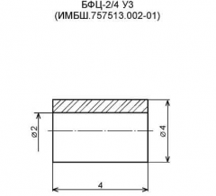 Beads cylindrical (BFTs-2/4). Rated voltage - 250