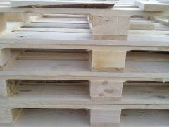 The pallet is pine