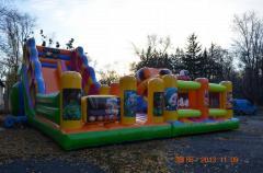 Children's hills park, hill trampoline,