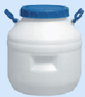 Cans, flasks from polyethylene, plastics, rubber