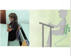 Orthopedic profilaktor of scoliosis at the school