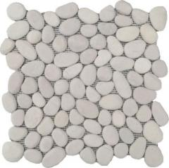 Мозайка з білого зрізаного з нижньої сторони й