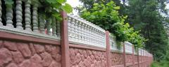 Fence of type-setting - ZhB are decorative