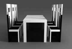 """Table and chairs """"City"""" from the"""