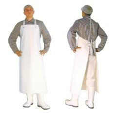 The apron is water-repellent, covered on both