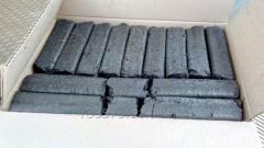 Charcoal briquette of Pini-Kay (carbonized) in box