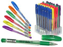 Ручки гелевые LKC с блеском