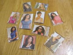Acrylic magnets.