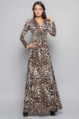 Трикотажное платье в пол, с длинными рукавами