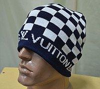 РАСПРОДАЖА!!! Зимняя вязанная двойная шапка.