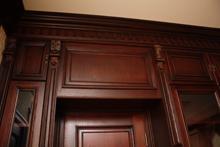 Panels are wall oak
