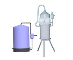 Аппараты АД 10 и АДВ 25 для дистилляции воды, применяемой в процессе приготовления электролита для аккумуляторов шахтных светильников, а также для других целей, где требуется дистиллят
