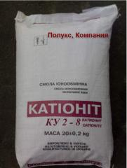 Cationite KU-2-8 cation exchanger