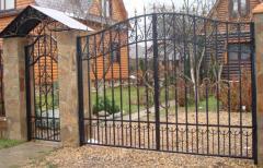 Gate oar metal with a gate