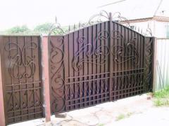 Gate oar metal for giving