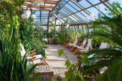 Gardens winter of polycarbonate
