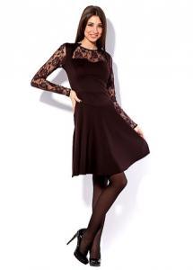 Нарядное молодежное платье с гипюром. Платье Анита