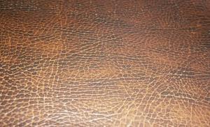 Кожа искусственная коричневая структурная