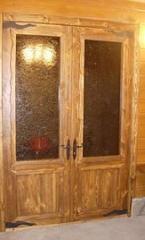 Двери межкомнатные двойные деревянные, №9