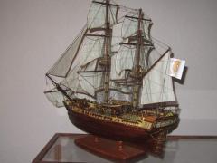Модель парусного корабля, авторская работа.