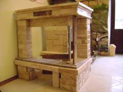 Камины hi-tech,Каминный фасад с мрамора