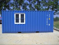 Складской контейнер с окном и дверью