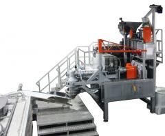 Macaroni (pasta) equipment capacity of 500 kg / h