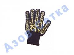 Gloves with point of Star PVC the 7th class