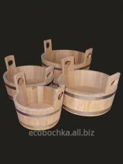 Tub of oak 3 l., the gang for a bath of 5 l, a tub