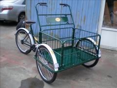 Велорикша грузовая. Велорикша пассажирская. Рикша.