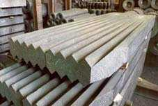 The blocks graphitized and anodes