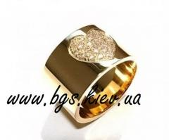 Ring gold with diamond, the Ring gold with diamond