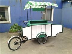Mobile coffee house, mobile outlet, trishaw the