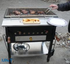 Grill with adjustable brazier 840х540х400