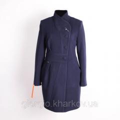 Пальто женское А-16 утепленное. Цвет: темно-синий